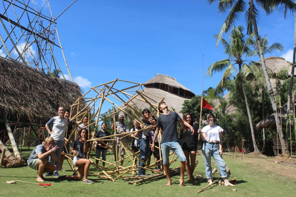 Tensegrity  Buckball at Green School