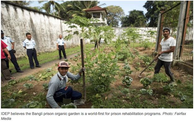 Prison gardens in Bali