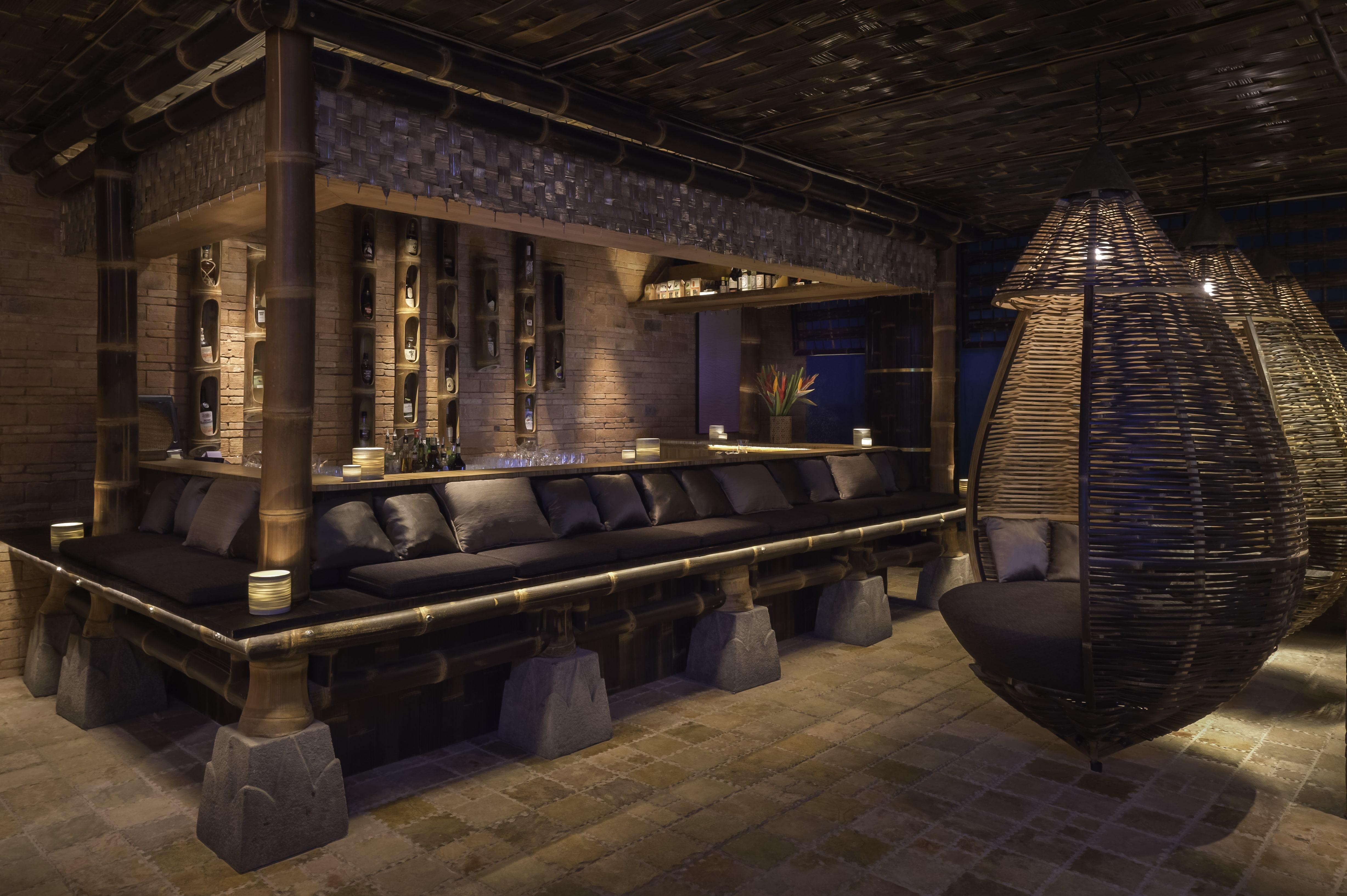 Traditional Balinese Bar at TRi. Design by Ibuku