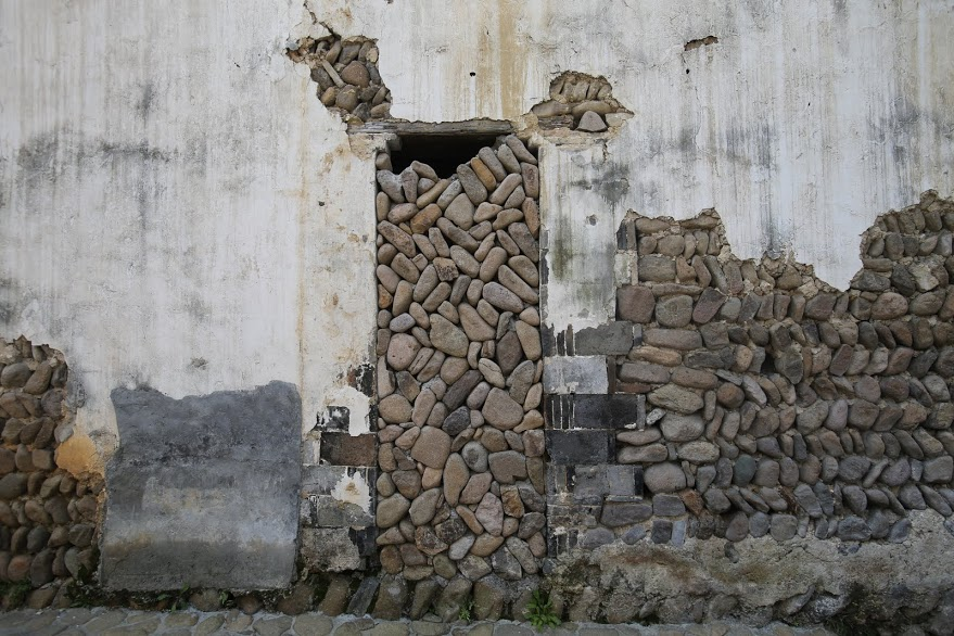 Stacked stones in Chinese village
