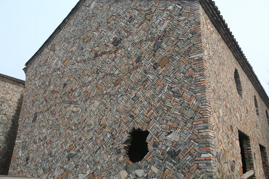 Incredible craftsmanship in stone wall in China