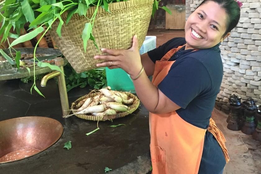Head cook at Bambu Indah Bali