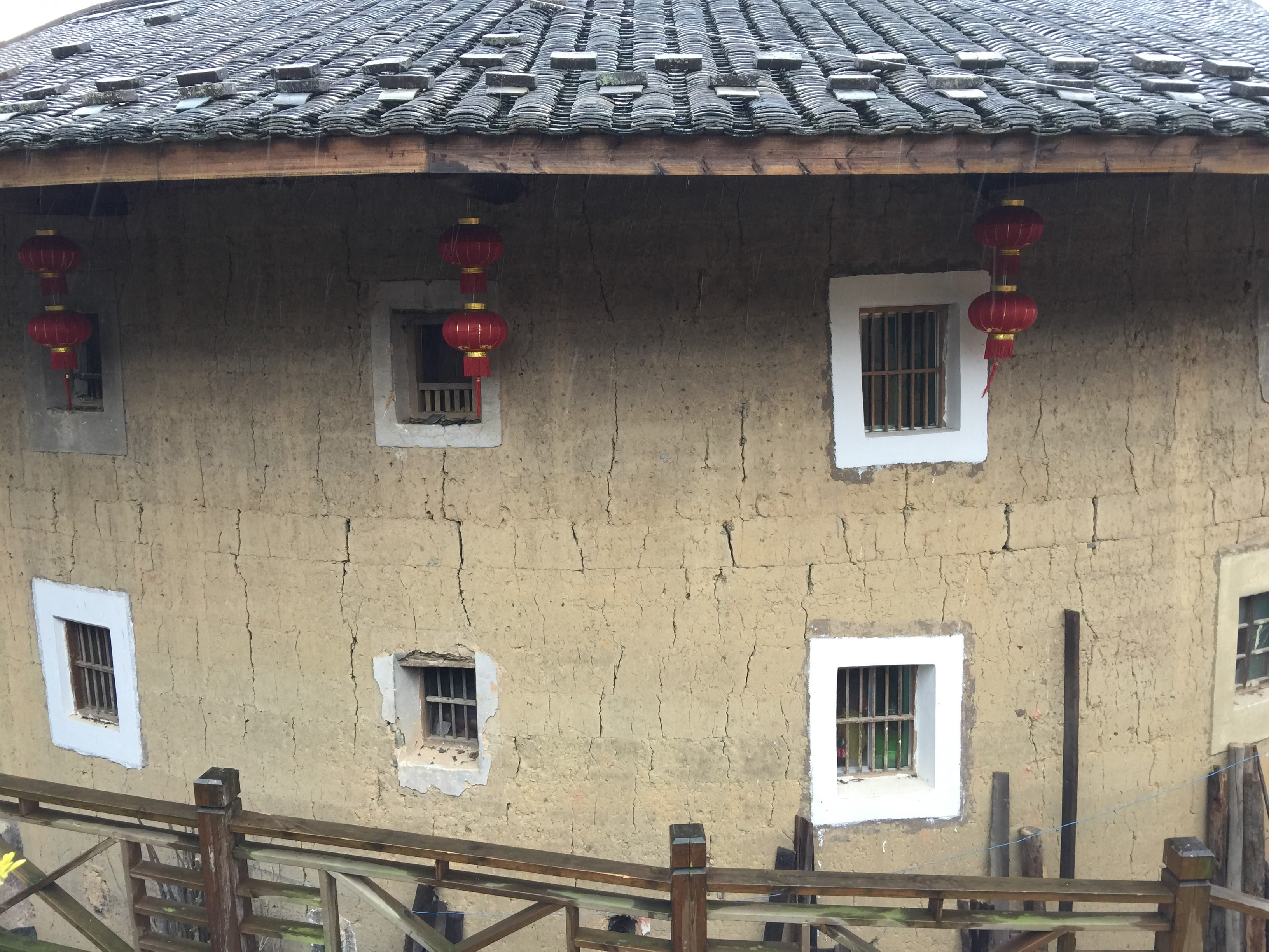 Windows of the round house of China