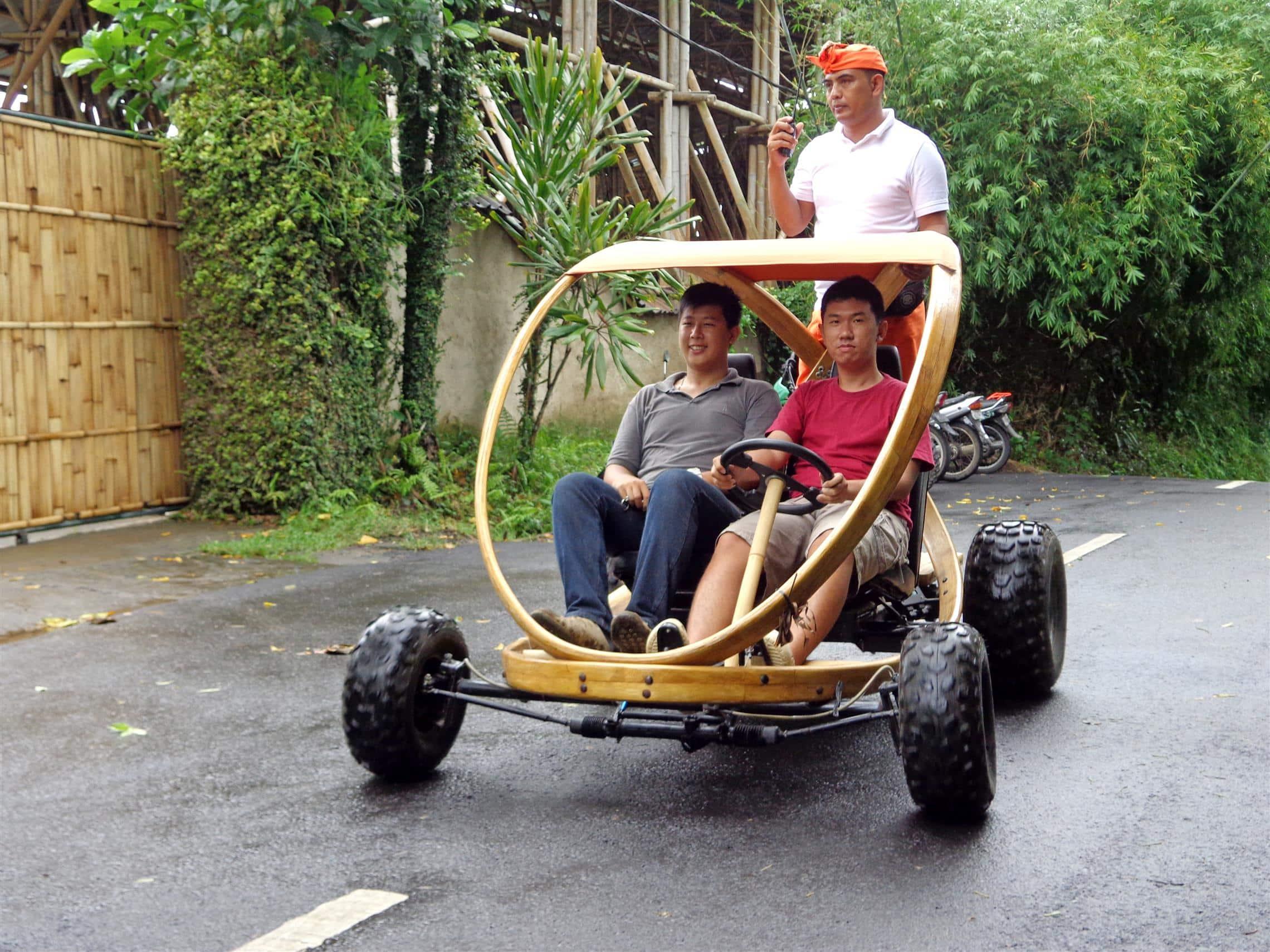 Bamboo buggy in Bali