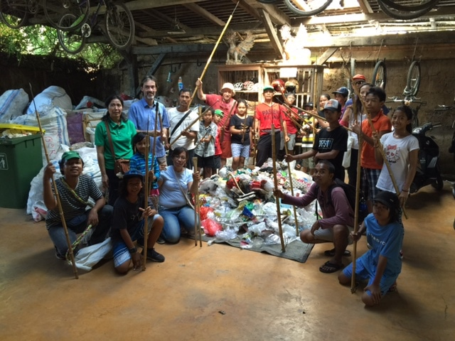 Trash walking in Ubud