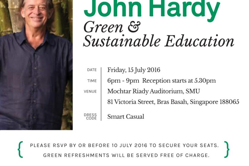 John Hardy speaking in Singapore