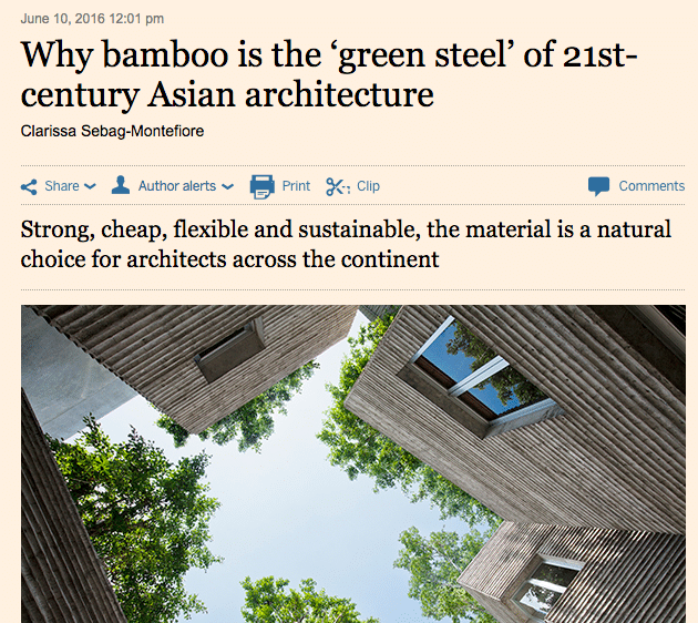Bamboo in the Financial Times