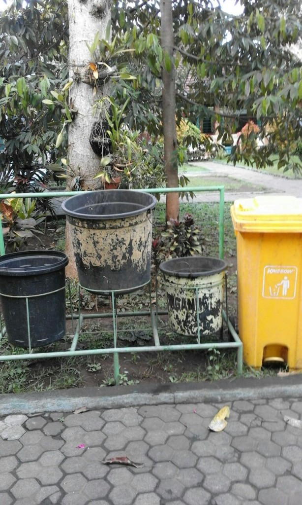 Garbage sorting at a local Ubud school