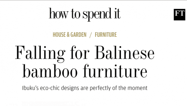 Falling for Balinese bamboo furniture