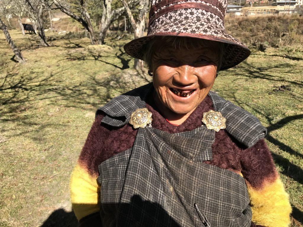 Bhutanese grandmother