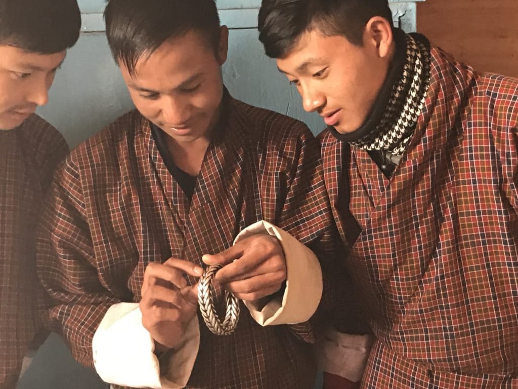 Students from National Craft School of Bhutan