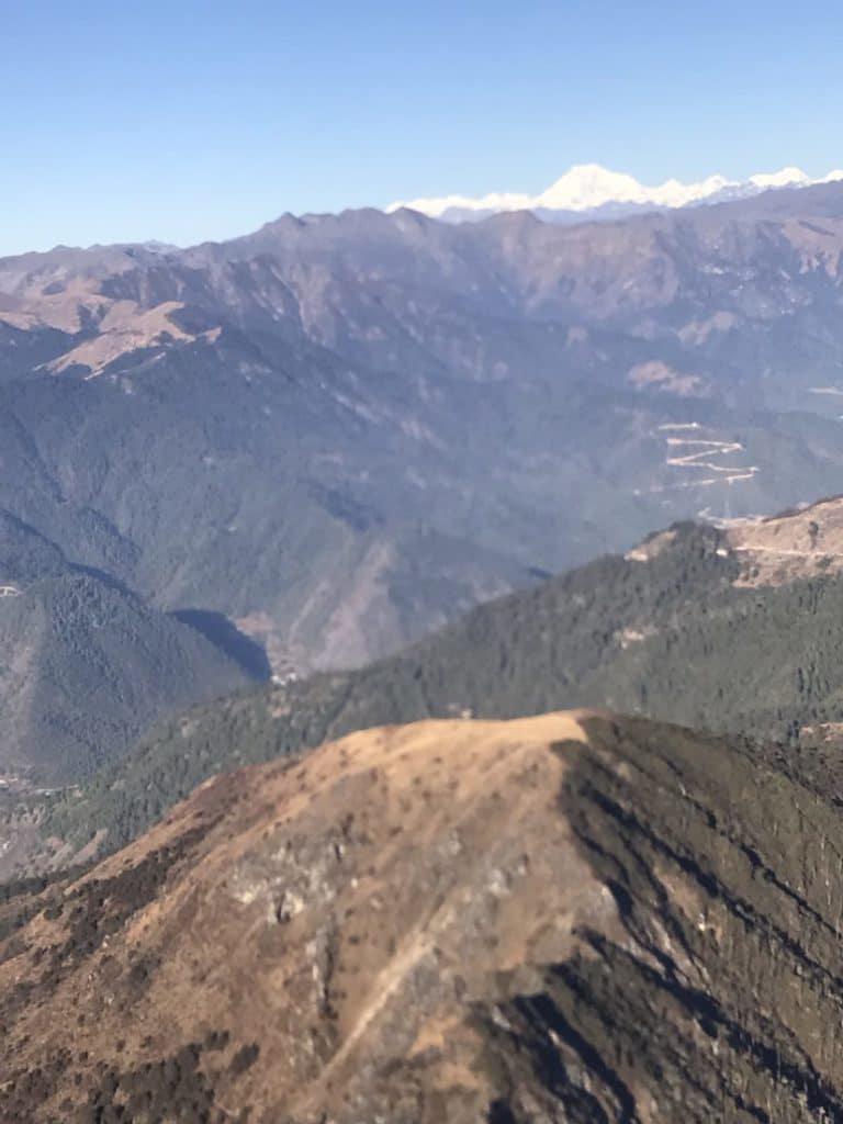 Bhutan from the air