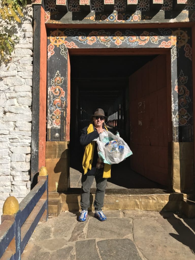 Trash walk goes to Bhutan