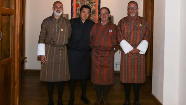 John Hardy with The King of Bhutan