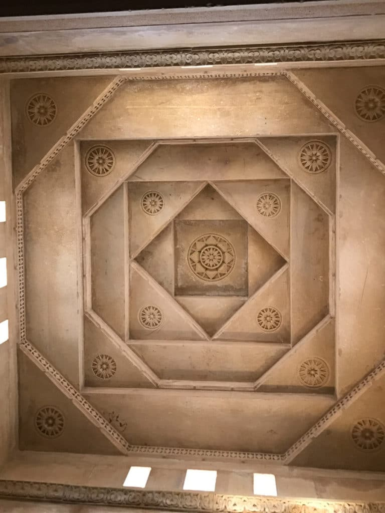 Stone roof in India