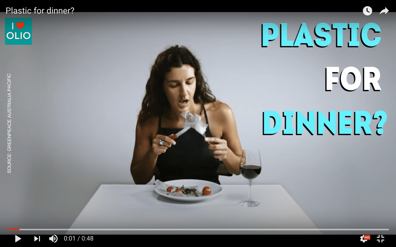 Plastic for dinner
