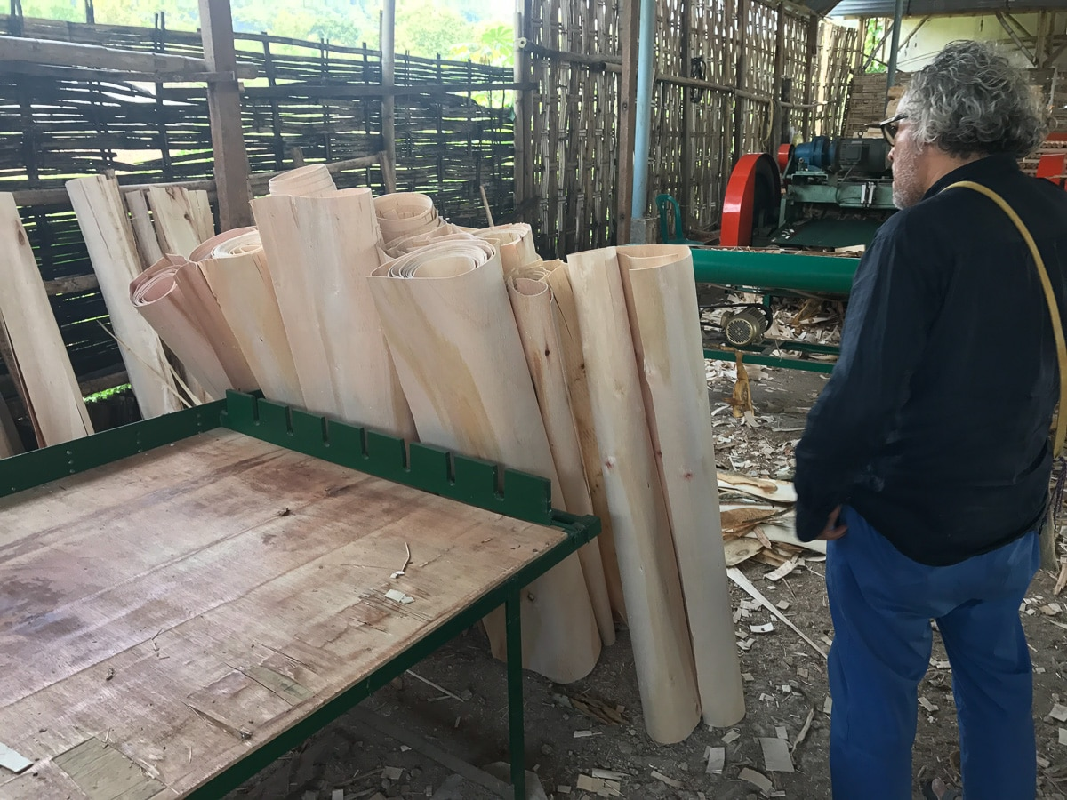 Plywood factory in Java