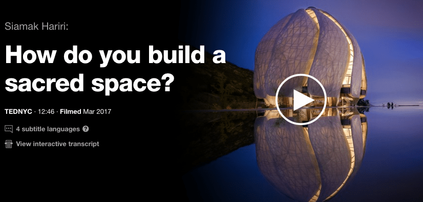 TEDTalk Sacred Space