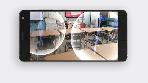 Google AR in thr classroom