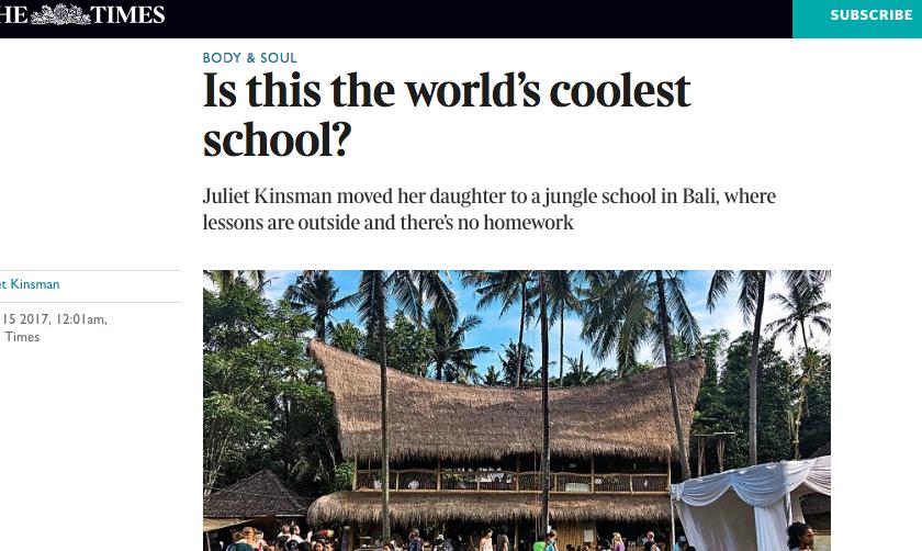 Juliet Kinsman The Times Green School Bali
