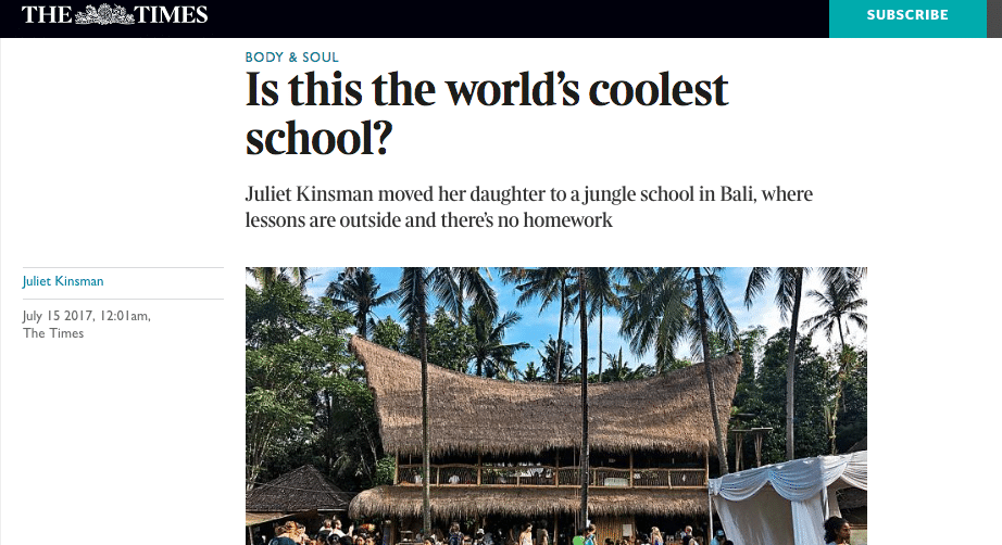 Green School In The Times - Easily coolest school world