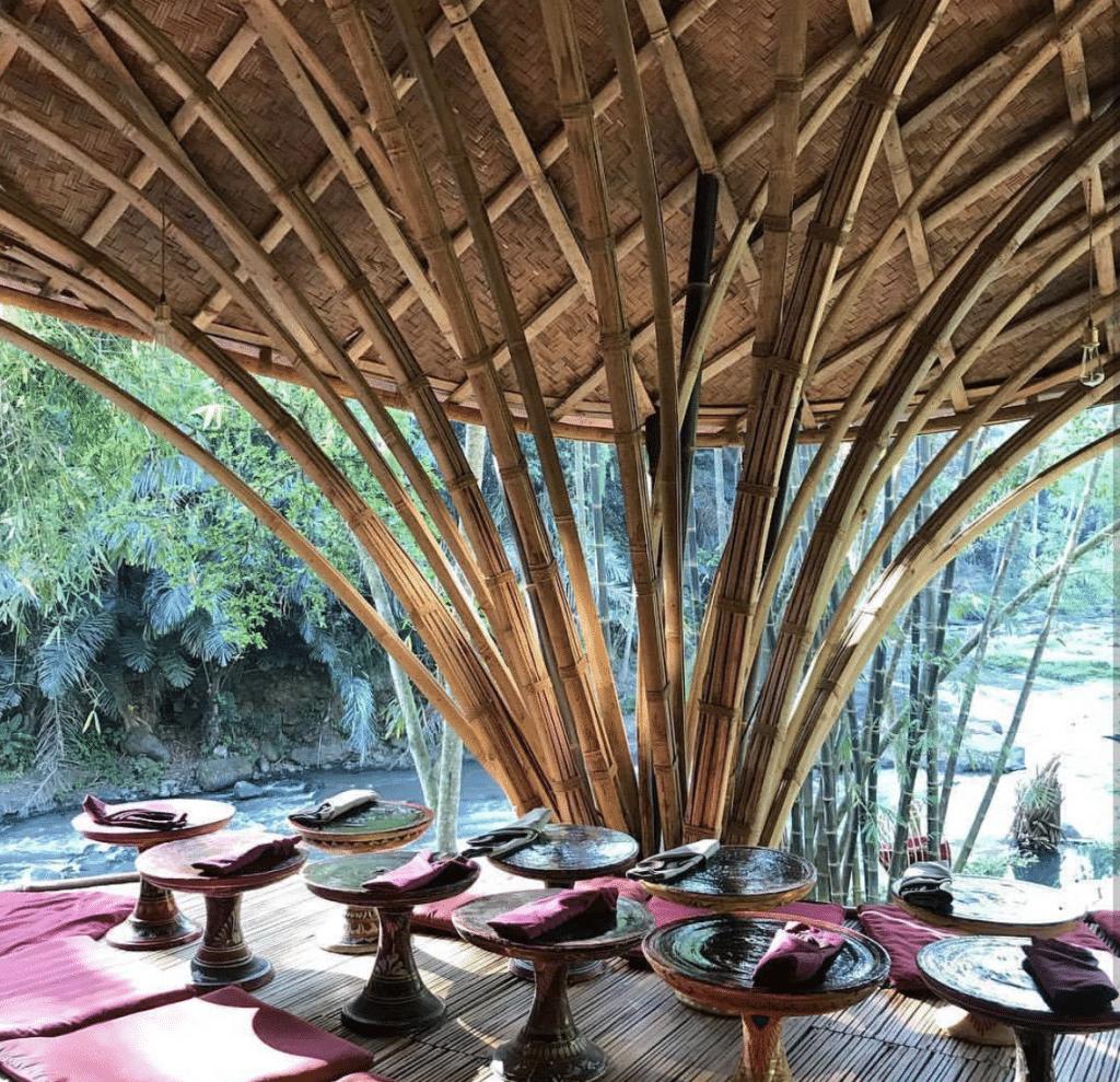 By the Ayung River at Bambu Indah