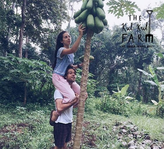 Orin and Maria at the Kul Kul Farm
