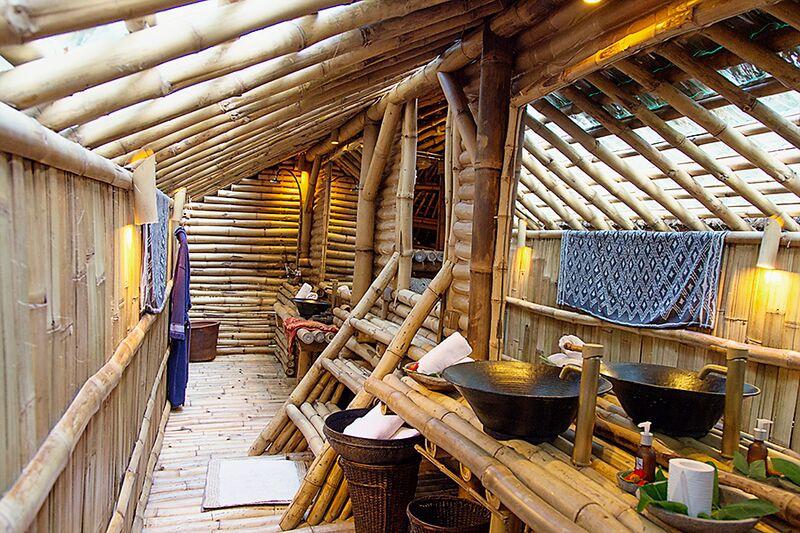 Sumba House bathroom at Bambu Indah by Delight Fine Art