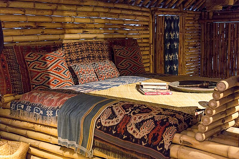 Sumba House bed at Bambu Indah by Delight Fine Art