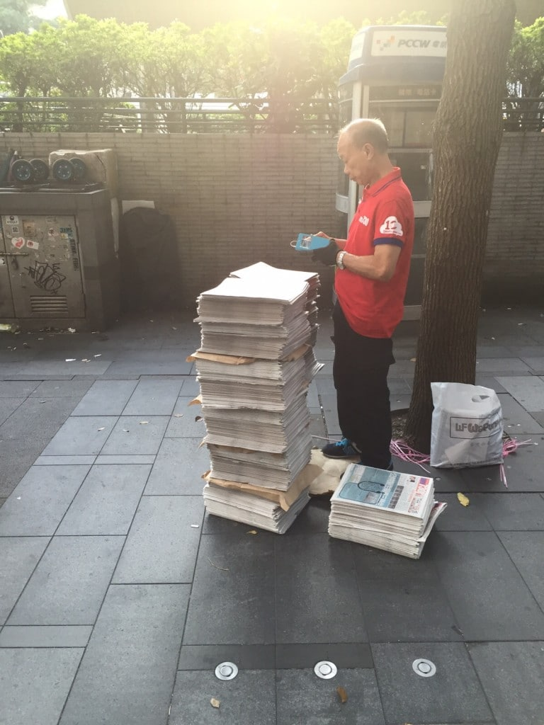 Free newspapers in Hongkong