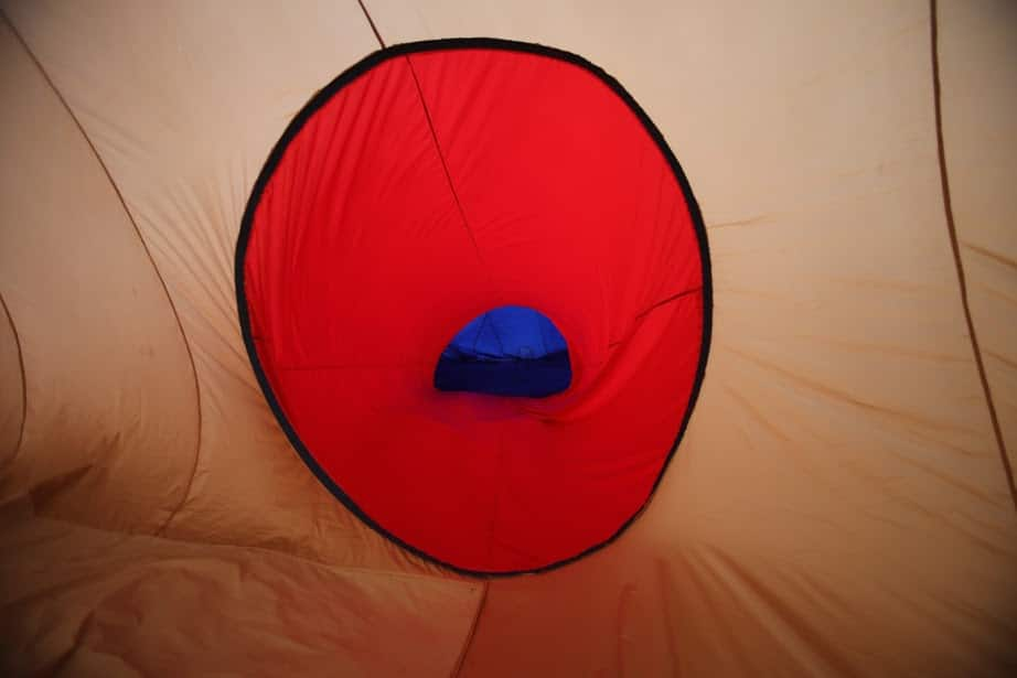 Inside the inflatable