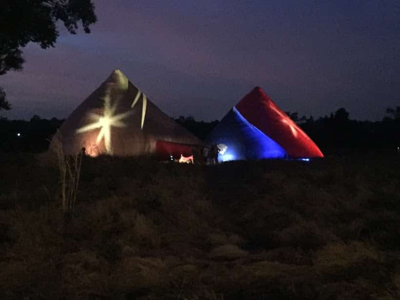 Inflatables by night