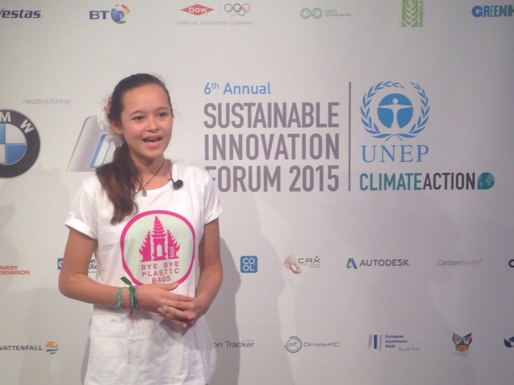 Bye Bye Plastic Bags at Sustainable Innovation Forum 2015