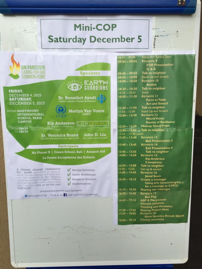 Mini COP 21 lineup with Green School