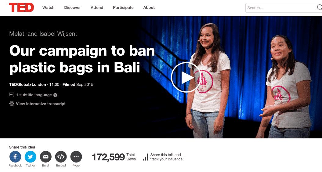 Bye Bye Plastic Bags at TED