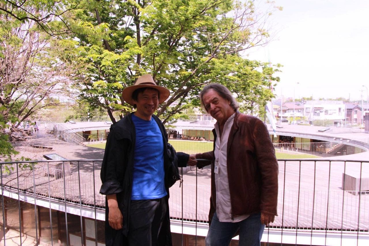 Takaharu Tezuka and John Hardy at the Fuji School