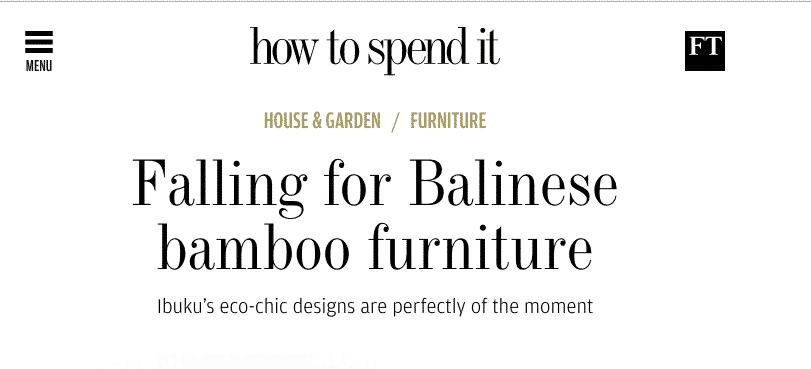 Falling for Balinese bamboo furniture