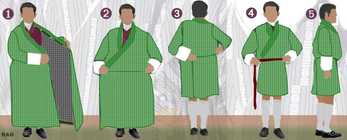 How to tie a goh