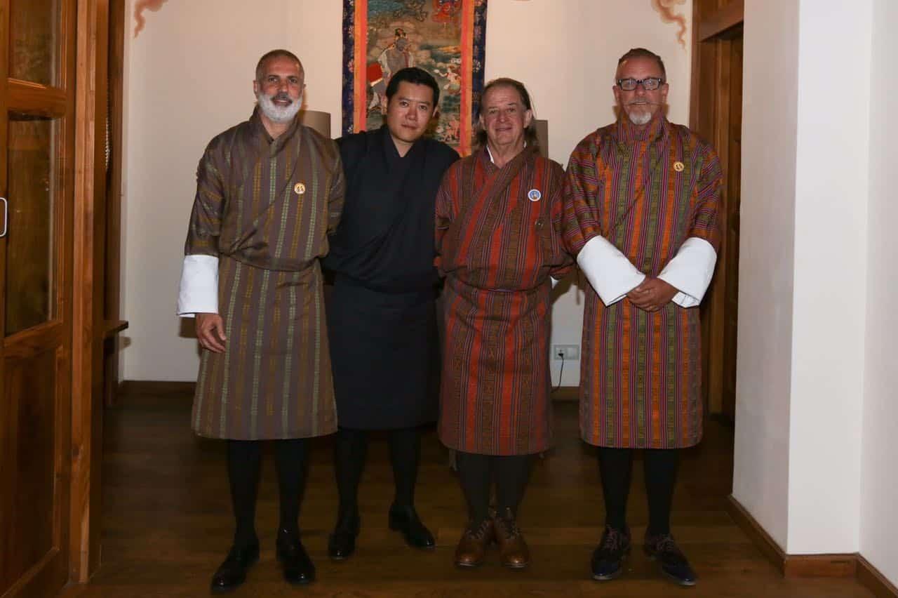 John Hardy with The King of Bhutan