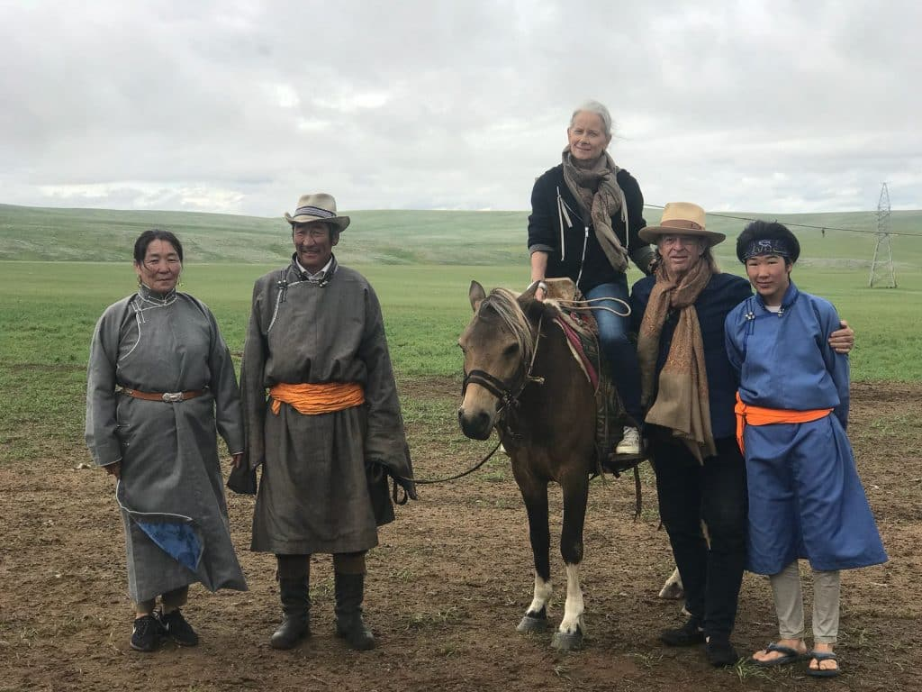 Mongolia horse and host family