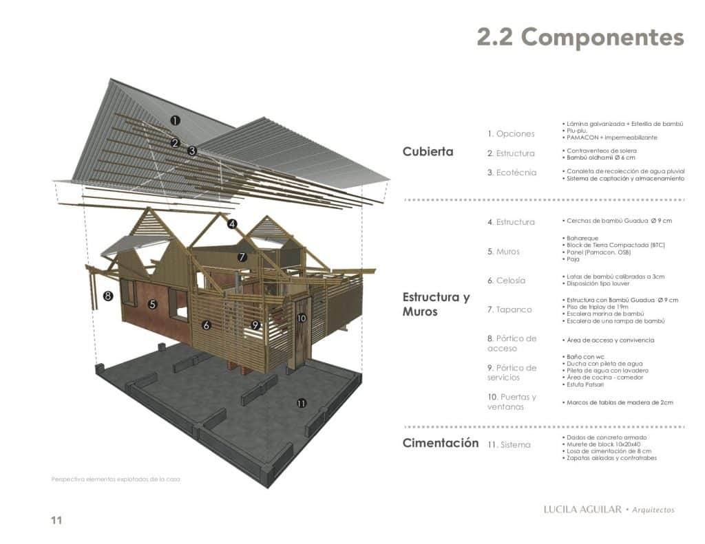 Modular bamboo housing